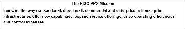 RISO PPS Mission