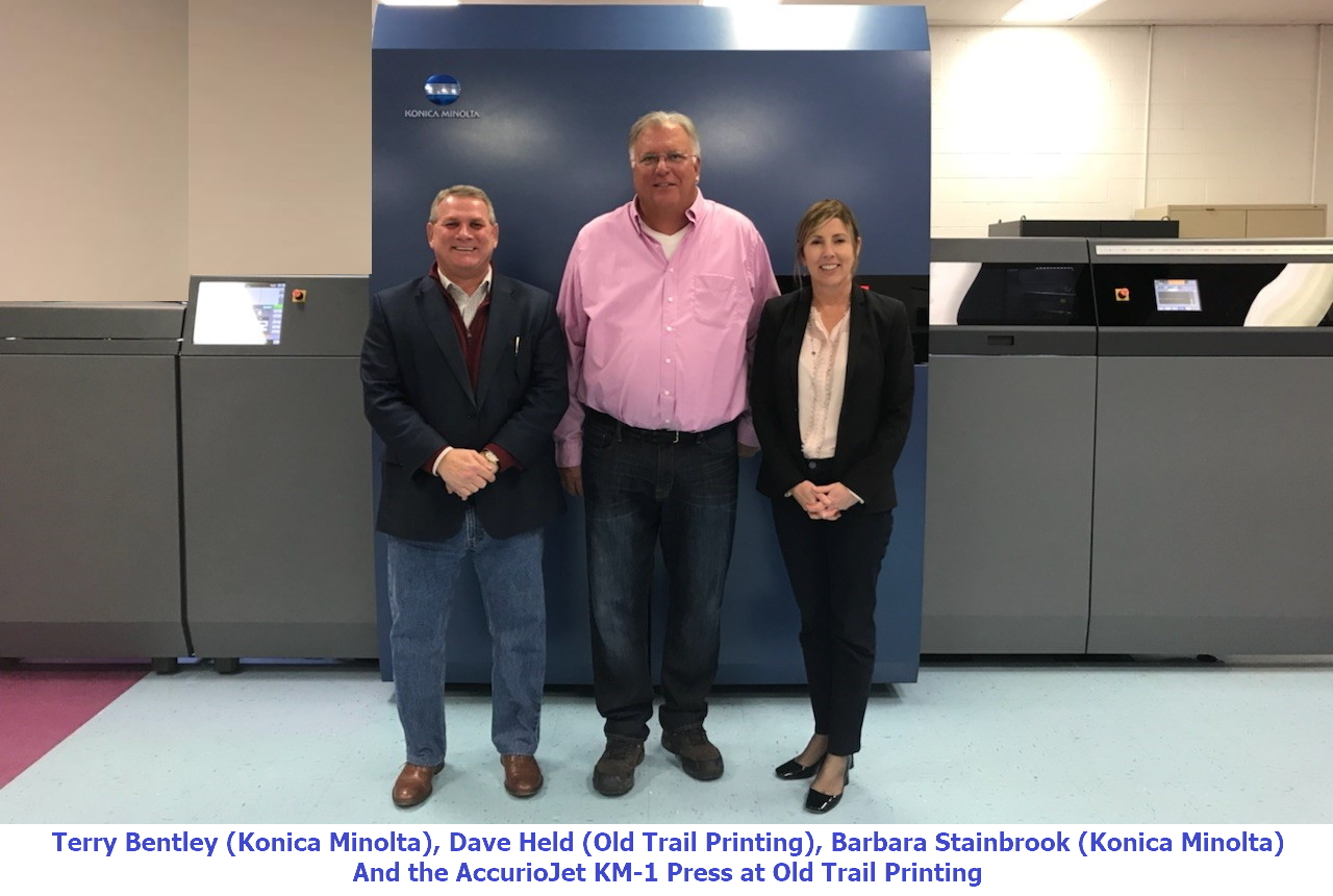 Old Trail Printing Embraces Its 90-Year History with the AccurioJet KM-1 Inkjet Press
